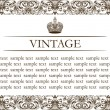 Stock Vector: Vintage frame decor line