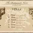 Royalty-Free Stock Vector Image: Vintage menu restaurant horizontal