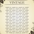 Cтоковый вектор: Vector vintage frame cover stock