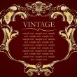 Royalty-Free Stock Vector Image: Vector vintage frame cover stock