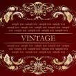 Vector vintage frame cover stock — Stock Vector