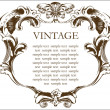 Vector vintage frame cover stock — Stock Vector #1209309
