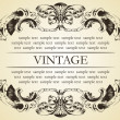 Vector vintage frame cover stock — Vector de stock