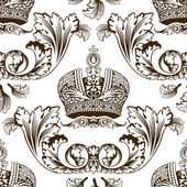 New seamless decor imperial ornament — Stock Vector