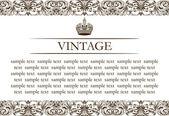 Línea de decoración vintage cuadro — Vector de stock