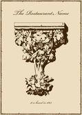 Ročník menu restaurace vertikální kniha — Stock vektor