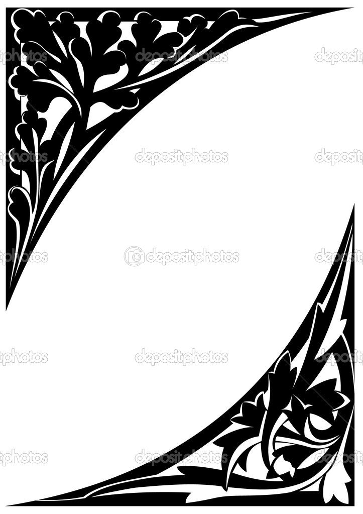 Frame imperial oak and gothic. Vector illustration  Stock Vector #1207516