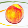 Ripe isolated peach — Stock Photo