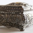 Silver ancient casket — Foto Stock