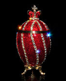 Faberge Egg with patches of light — Stock Photo