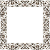Raster Vintage frame decor — Stock Photo