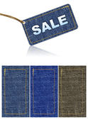 Jeans sale tag — Stock Photo