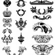Elements of imperial ornament. Vector il - Stock Vector