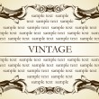 New frame vintage old ornament — Stockvektor