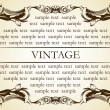 New frame vintage old ornament - Stock Vector