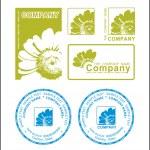 logo verde, flor — Vector de stock