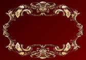 Raster vintage ornament red — Stock Photo