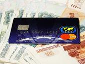 Credit card, money — Stock Photo