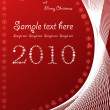 Christmas abstract red background — Stockfoto