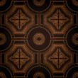 Vector ceiling tile seamless vintage — Stockvectorbeeld