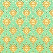 Royalty-Free Stock Vector Image: Seamless vintage background green
