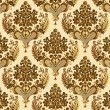 Vector de stock : Seamless vintage floral yellow