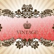 Stock Vector: Vintage glamour frame red