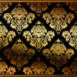Stok Vektör: Seamless vector floral background gold