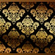 Seamless vector floral background gold — 图库矢量图片