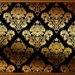 ouro de floral background vector sem emenda — Vetorial Stock