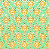 Seamless vintage background green — Stock Vector