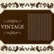 Gothic frame decorative vintage — Stock Vector