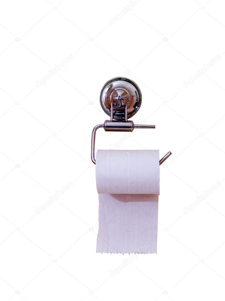 Toilet paper isolated on the white background — 图库照片 #1141552