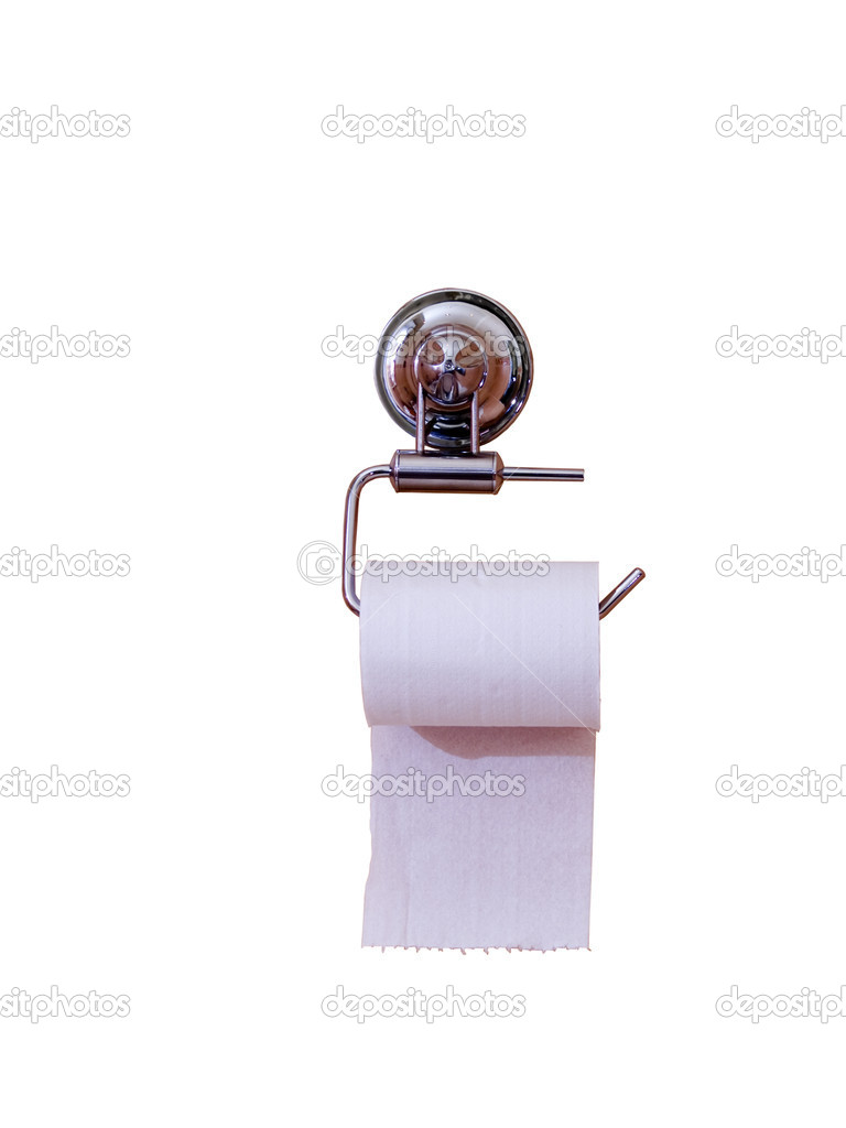 Toilet paper isolated on the white background — Foto de Stock   #1141552