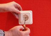 Installing socket — Stock Photo