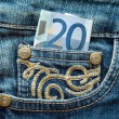 Money in jeans pocket — Stock Photo #1177765