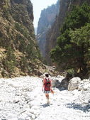 Samaria gorge — Stock Photo