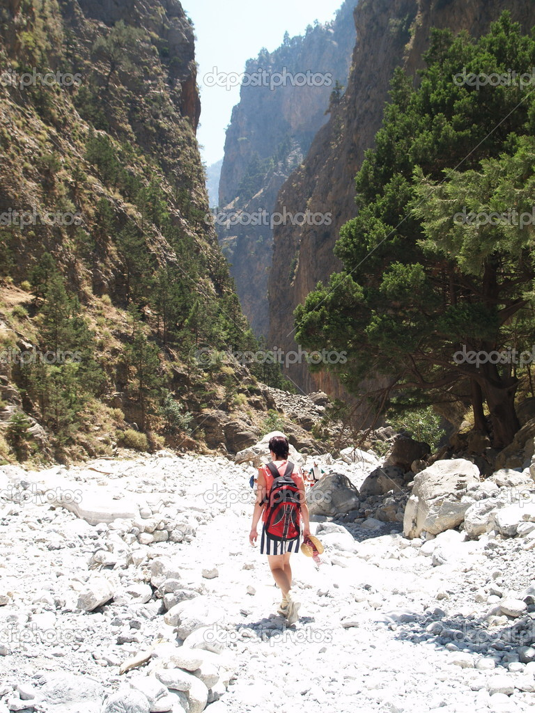 Samaria gorge-Greece.  Stock Photo #1216575