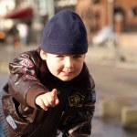 Boy portrait outdoor — Stock Photo
