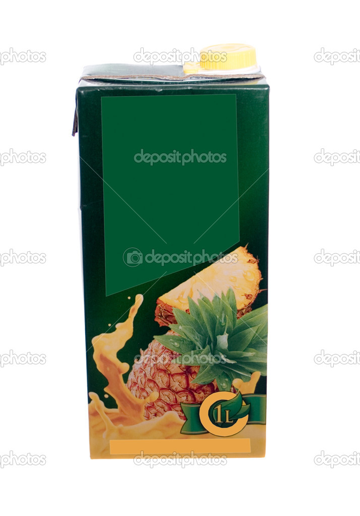 Juice box isolated on the white background — Stock Photo #1378635