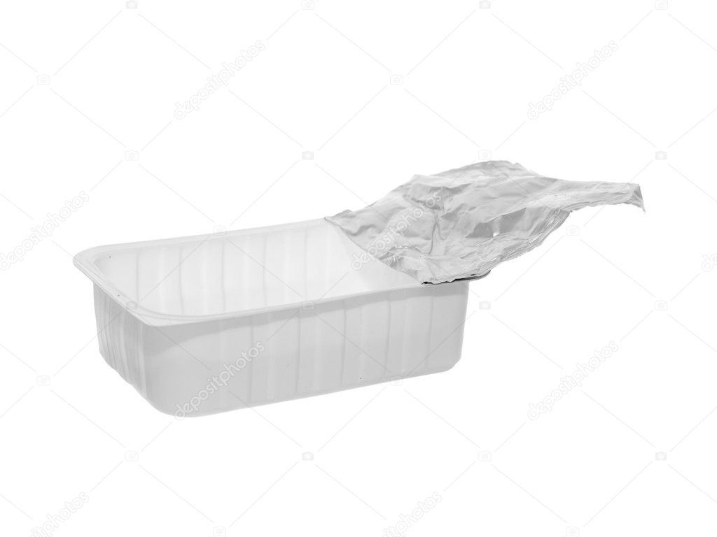 Plastic food container isolated on the white background — Stock Photo #1392562