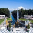 Stock Photo: Fountains in Peterhof