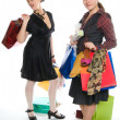 Stock Photo: Shopping ( girls with purchases)