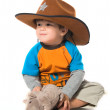 Royalty-Free Stock Photo: Happy boy in cowboy hat