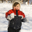 Happy boy on snow — Stock Photo #1132998
