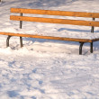 Winter bench — 图库照片