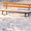 Winter bench - Stock Photo
