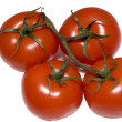 Group of four red tomato — Stock Photo