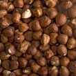 Hazelnut background — Stock Photo