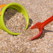 Bucket and shovel in shells and send -  